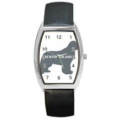 Newfie Name Silo Grey Barrel Style Metal Watch