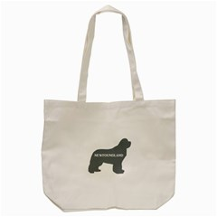 Newfie Name Silo Grey Tote Bag (Cream)