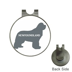 Newfie Name Silo Grey Hat Clips with Golf Markers