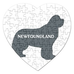 Newfie Name Silo Grey Jigsaw Puzzle (Heart)