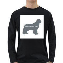 Newfie Name Silo Grey Long Sleeve Dark T-Shirts