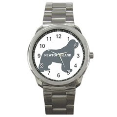 Newfie Name Silo Grey Sport Metal Watch