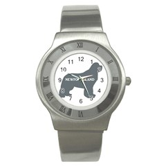 Newfie Name Silo Grey Stainless Steel Watch