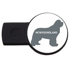 Newfie Name Silo Grey USB Flash Drive Round (4 GB)