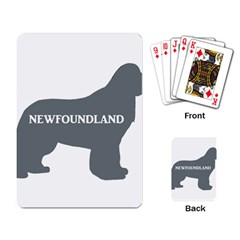 Newfie Name Silo Grey Playing Card