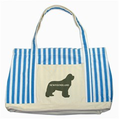 Newfie Name Silo Grey Striped Blue Tote Bag