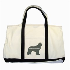 Newfie Name Silo Grey Two Tone Tote Bag