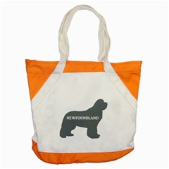Newfie Name Silo Grey Accent Tote Bag