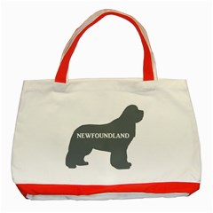 Newfie Name Silo Grey Classic Tote Bag (Red)