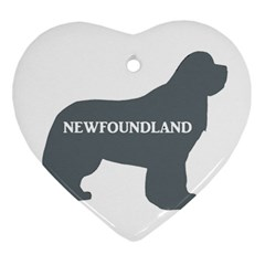 Newfie Name Silo Grey Heart Ornament (Two Sides)