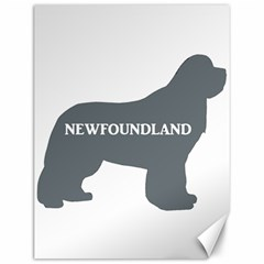 Newfie Name Silo Grey Canvas 12  x 16
