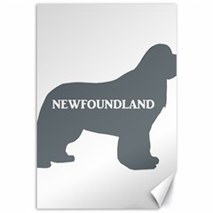 Newfie Name Silo Grey Canvas 12  x 18