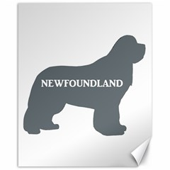 Newfie Name Silo Grey Canvas 16  x 20