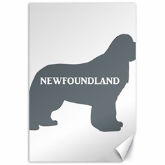 Newfie Name Silo Grey Canvas 24  x 36