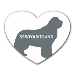 Newfie Name Silo Grey Heart Mousepads