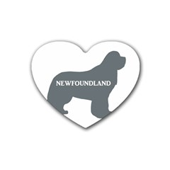 Newfie Name Silo Grey Heart Coaster (4 pack)