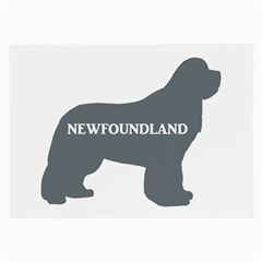 Newfie Name Silo Grey Large Glasses Cloth