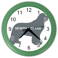 Newfie Name Silo Grey Color Wall Clocks