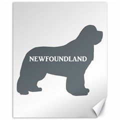 Newfie Name Silo Grey Canvas 11  x 14