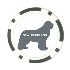 Newfie Name Silo Grey Poker Chip Card Guard