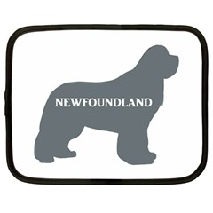 Newfie Name Silo Grey Netbook Case (Large)