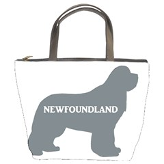 Newfie Name Silo Grey Bucket Bags