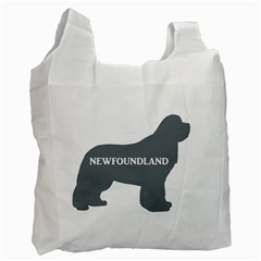 Newfie Name Silo Grey Recycle Bag (One Side)