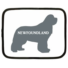Newfie Name Silo Grey Netbook Case (XXL)