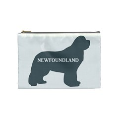 Newfie Name Silo Grey Cosmetic Bag (Medium)