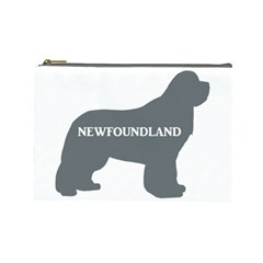 Newfie Name Silo Grey Cosmetic Bag (Large)