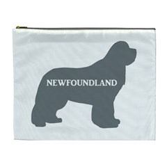 Newfie Name Silo Grey Cosmetic Bag (XL)