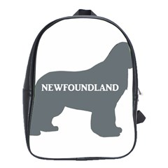 Newfie Name Silo Grey School Bags(Large)