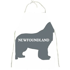 Newfie Name Silo Grey Full Print Aprons