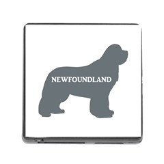 Newfie Name Silo Grey Memory Card Reader (Square)