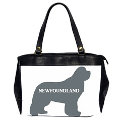 Newfie Name Silo Grey Office Handbags (2 Sides)