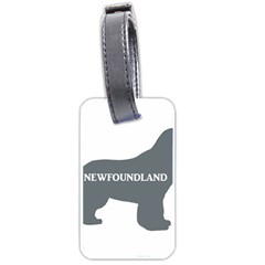 Newfie Name Silo Grey Luggage Tags (Two Sides)
