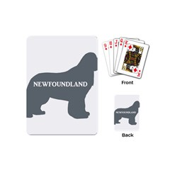 Newfie Name Silo Grey Playing Cards (Mini)