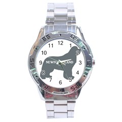 Newfie Name Silo Grey Stainless Steel Analogue Watch