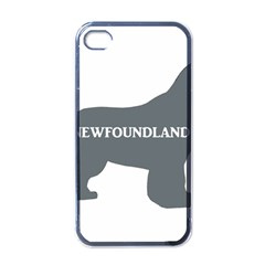 Newfie Name Silo Grey Apple iPhone 4 Case (Black)