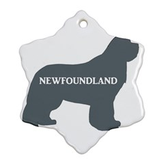 Newfie Name Silo Grey Snowflake Ornament (Two Sides)