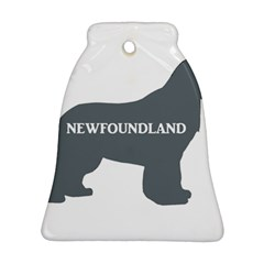 Newfie Name Silo Grey Bell Ornament (Two Sides)