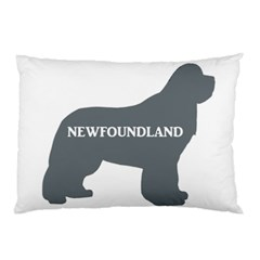 Newfie Name Silo Grey Pillow Case (Two Sides)