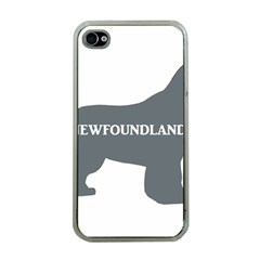 Newfie Name Silo Grey Apple iPhone 4 Case (Clear)