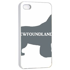 Newfie Name Silo Grey Apple iPhone 4/4s Seamless Case (White)