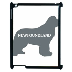 Newfie Name Silo Grey Apple iPad 2 Case (Black)