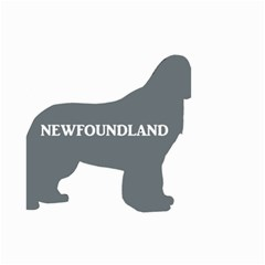 Newfie Name Silo Grey Small Garden Flag (Two Sides)