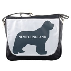 Newfie Name Silo Grey Messenger Bags
