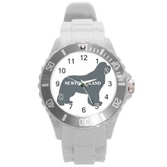 Newfie Name Silo Grey Round Plastic Sport Watch (L)