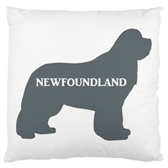 Newfie Name Silo Grey Large Cushion Case (Two Sides)