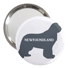 Newfie Name Silo Grey 3  Handbag Mirrors